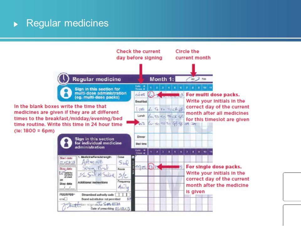 Regular medicines Narration