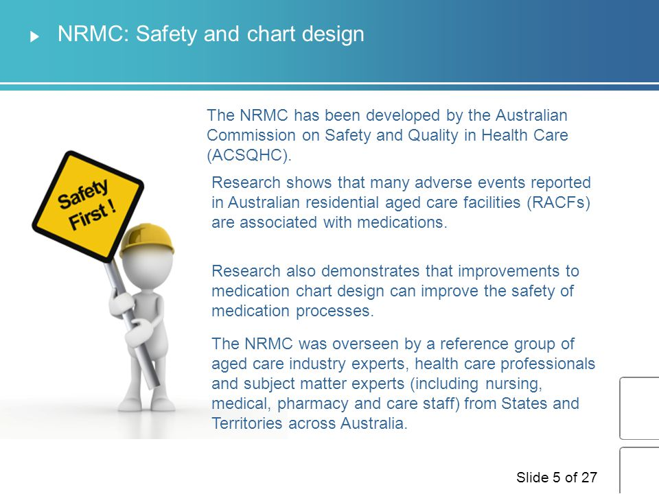 NRMC: Safety and chart design
