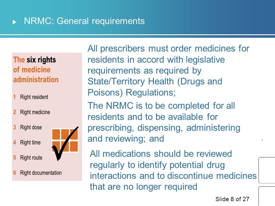 NRMC: General requirements