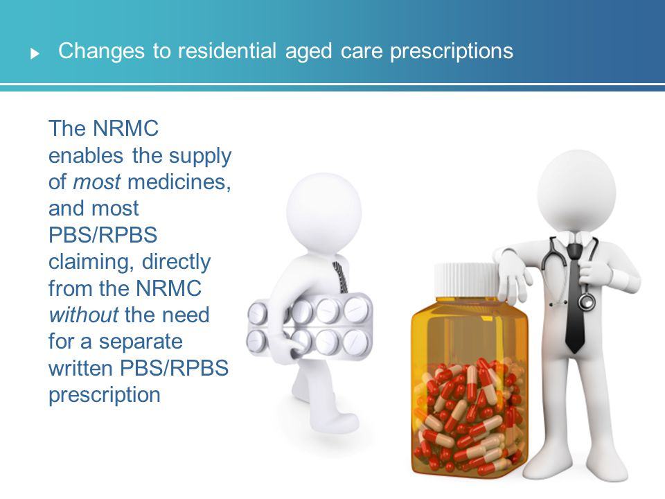 Changes to residential aged care prescriptions