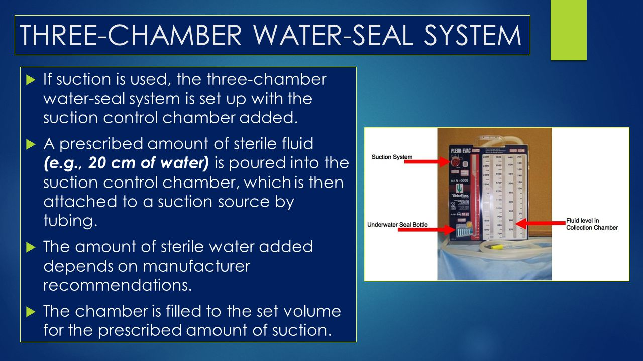 THREE-CHAMBER WATER-SEAL SYSTEM