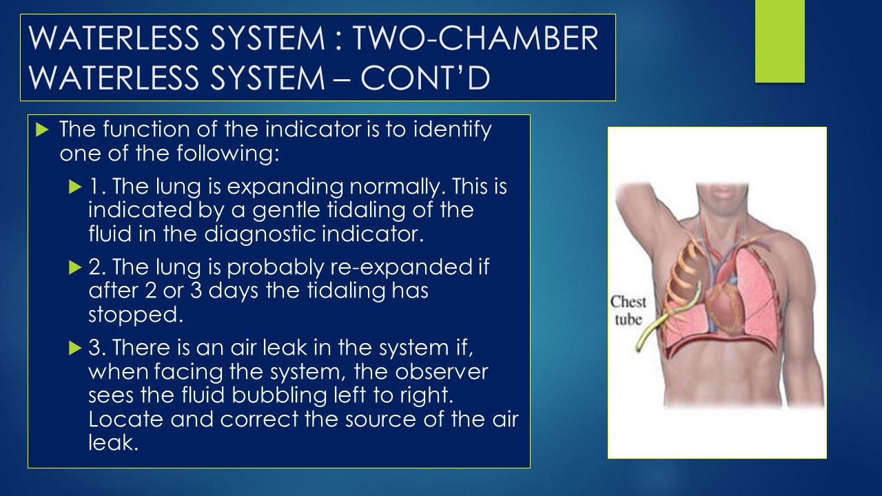 WATERLESS SYSTEM : TWO-CHAMBER WATERLESS SYSTEM – CONT'D