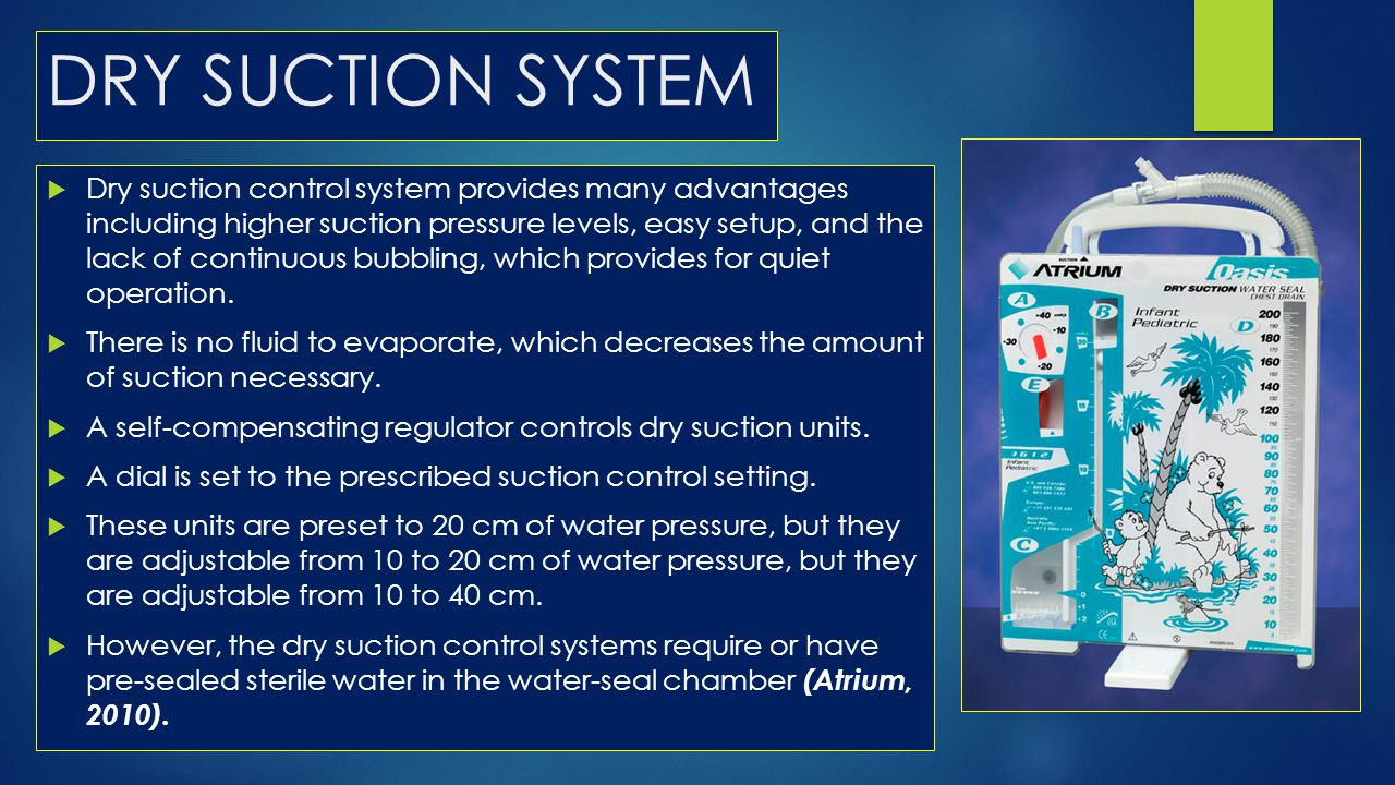 DRY SUCTION SYSTEM