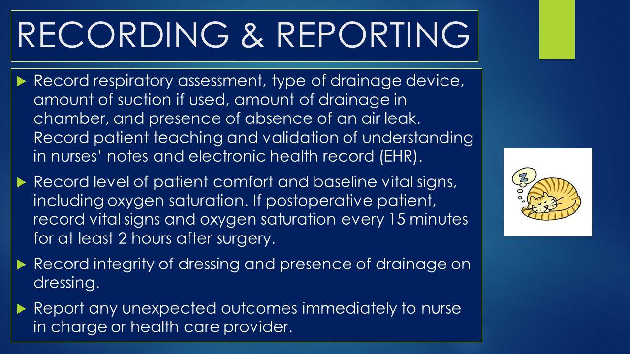 RECORDING & REPORTING