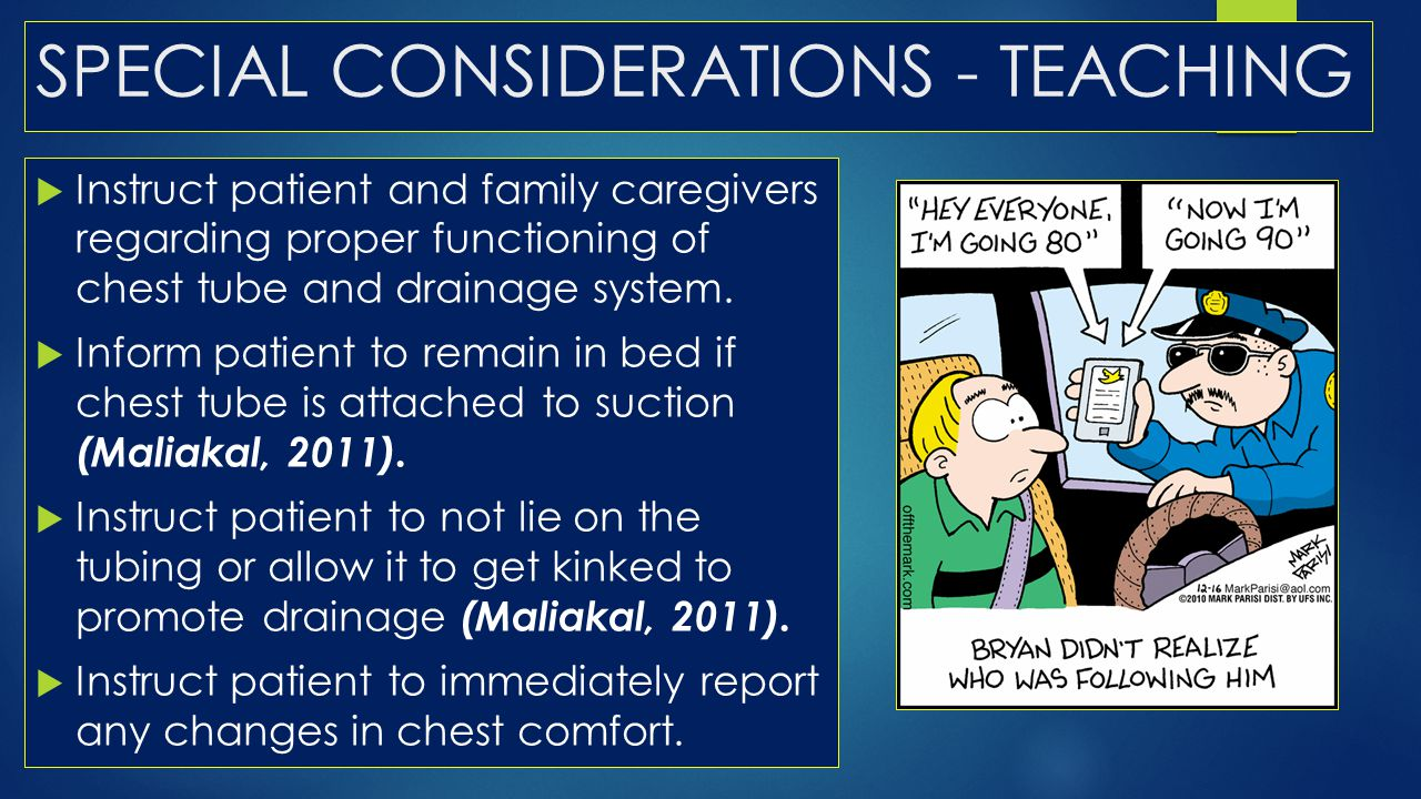 SPECIAL CONSIDERATIONS - TEACHING