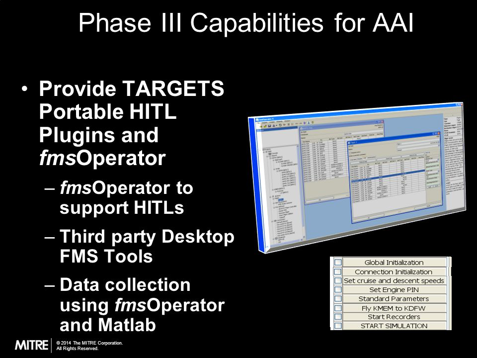 Phase III Capabilities for AAI