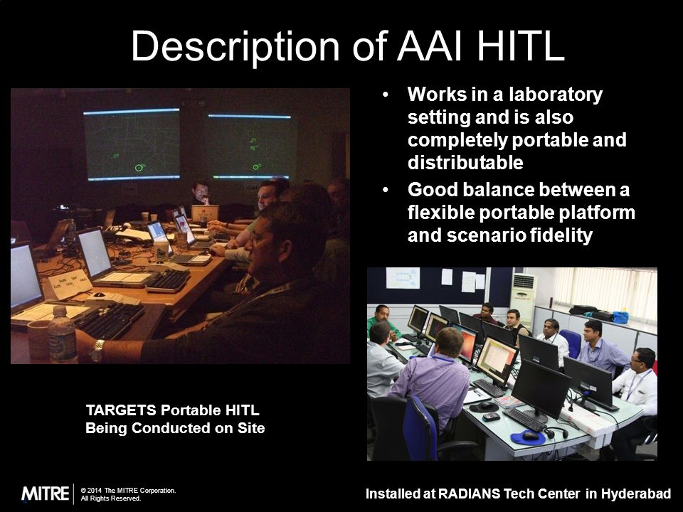 Description of AAI HITL Simulation