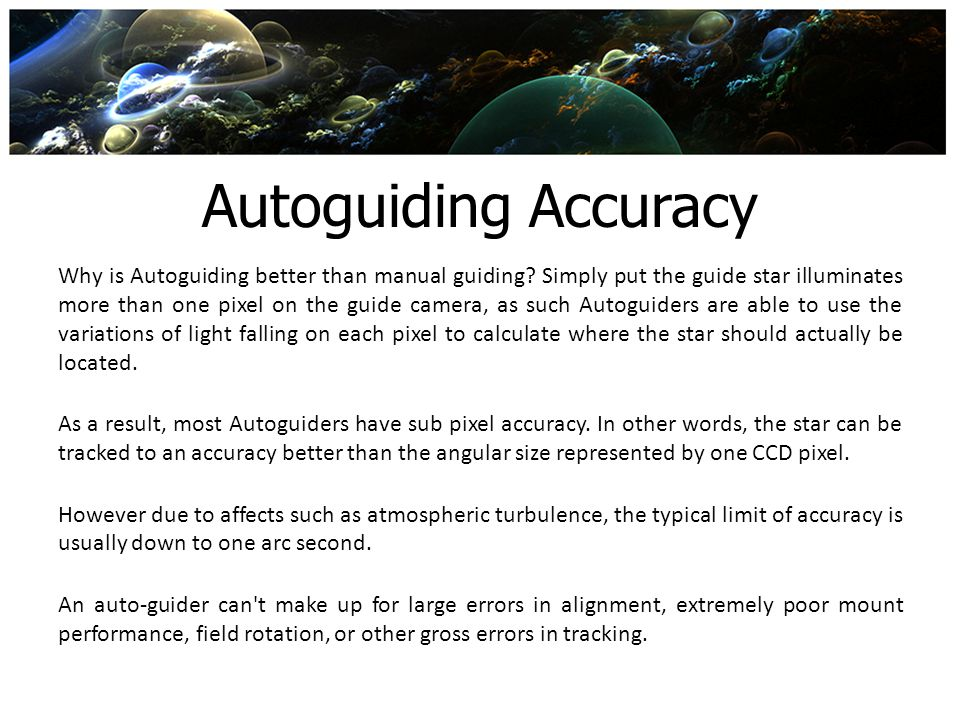 Autoguiding Accuracy