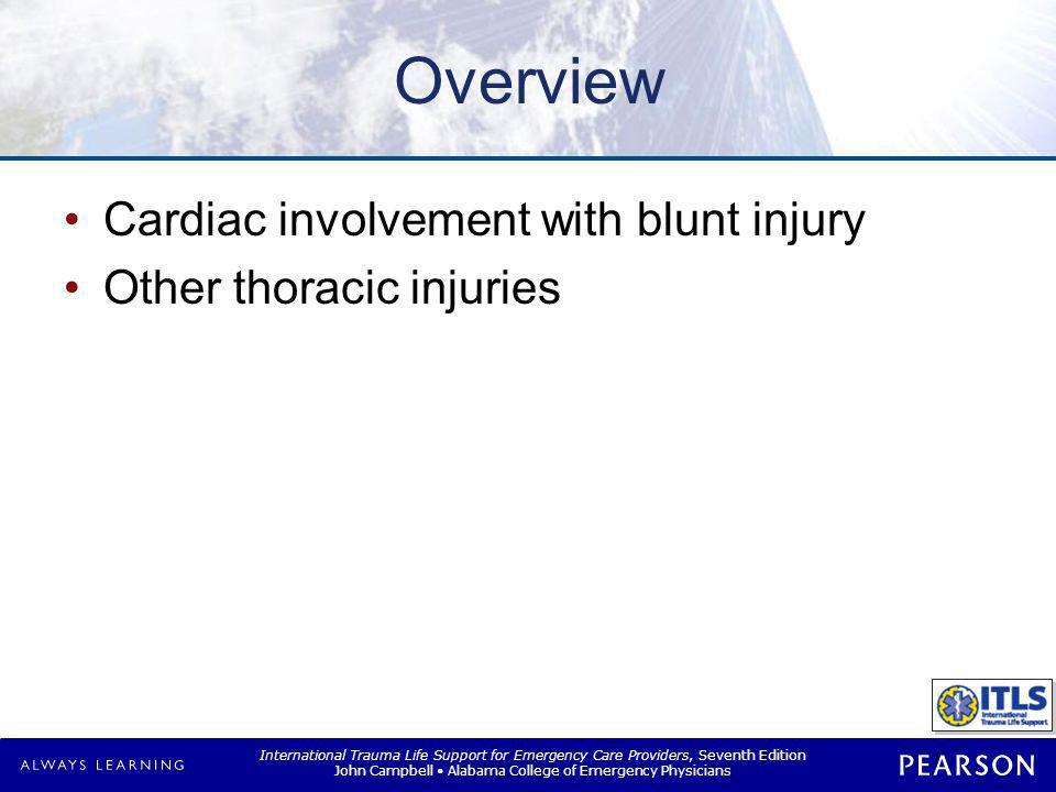 Thoracic Trauma Thoracic injury is common