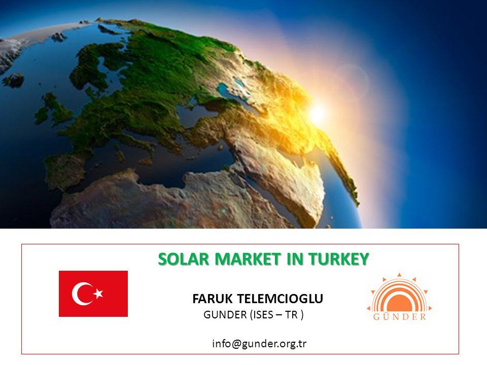 SOLAR MARKET IN TURKEY FARUK TELEMCIOGLU GUNDER (ISES – TR )
