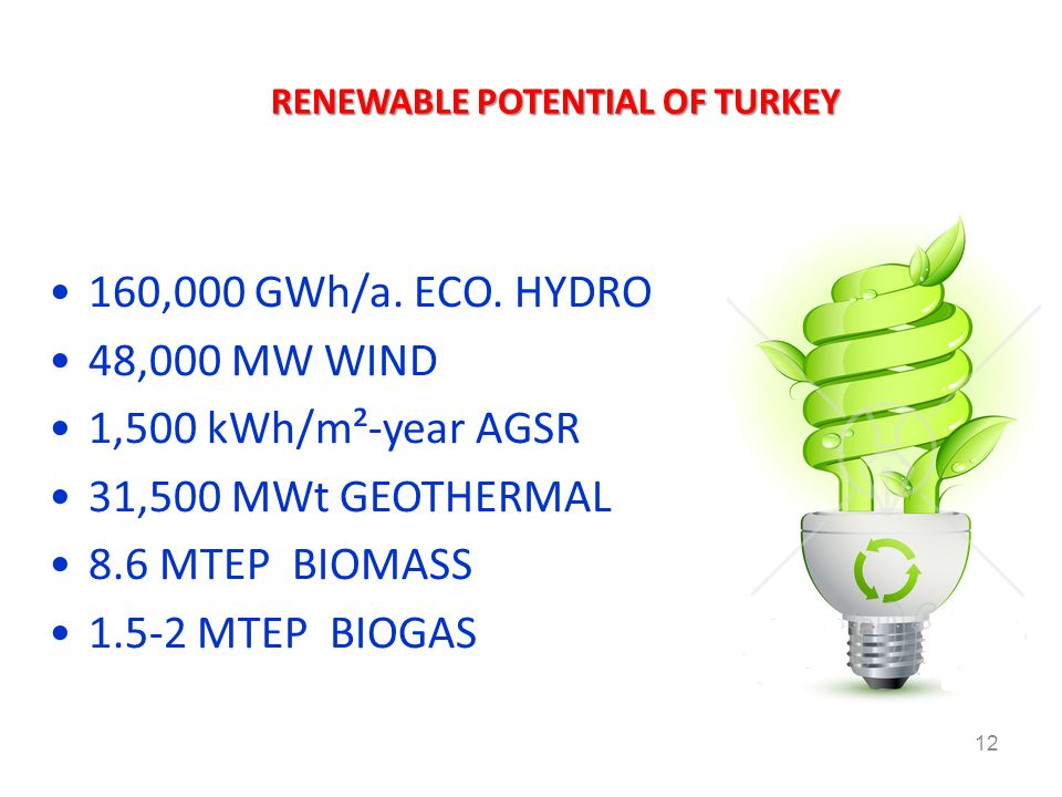 RENEWABLE POTENTIAL OF TURKEY