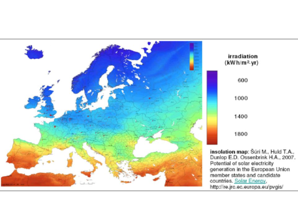 Turkey has higher solar energy potential compared to many European Countries.
