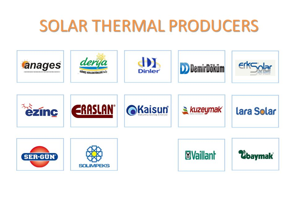 SOLAR THERMAL PRODUCERS