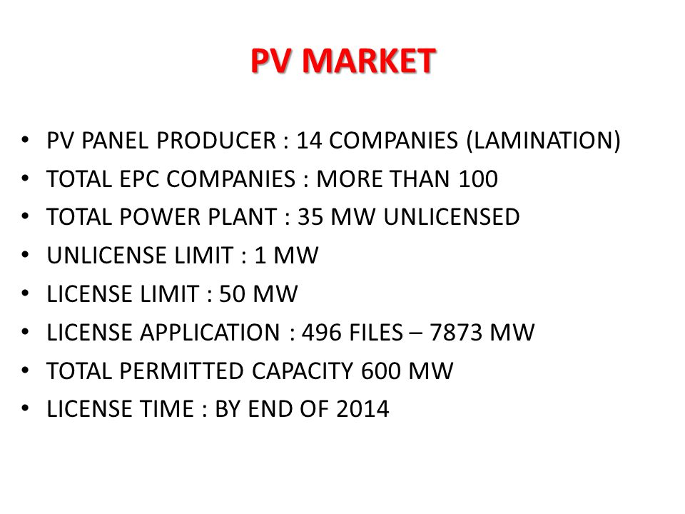 PV MARKET PV PANEL PRODUCER : 14 COMPANIES (LAMINATION)