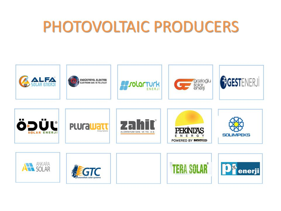 PHOTOVOLTAIC PRODUCERS
