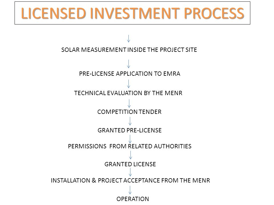 LICENSED INVESTMENT PROCESS