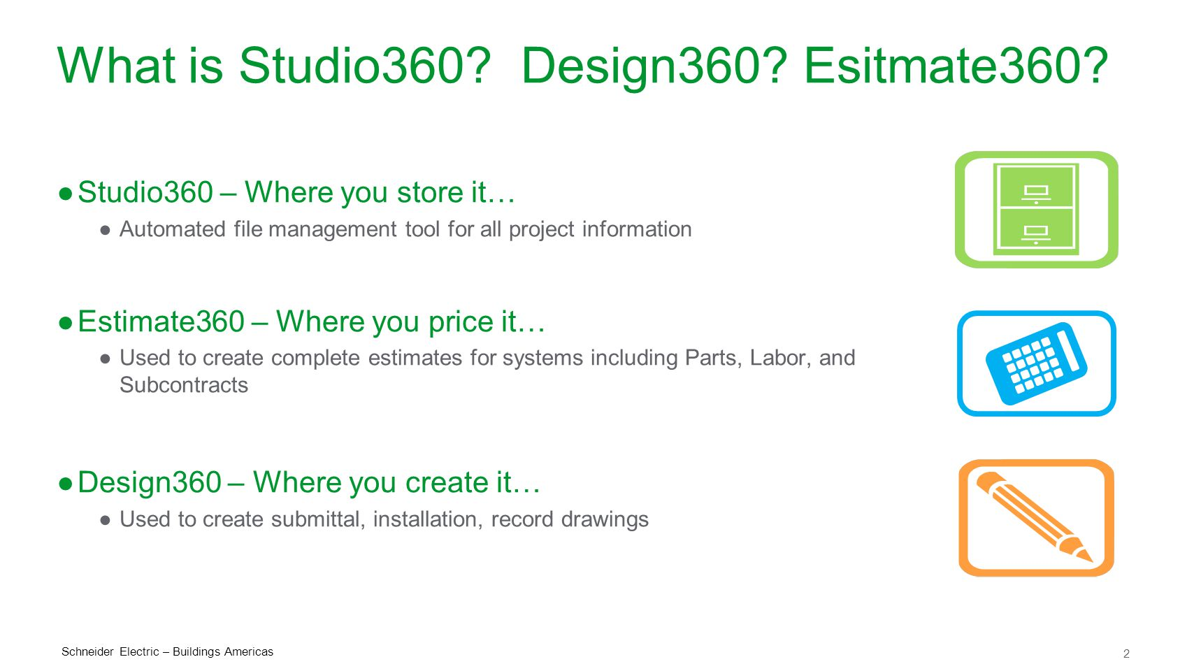 What is Studio360 Design360 Esitmate360