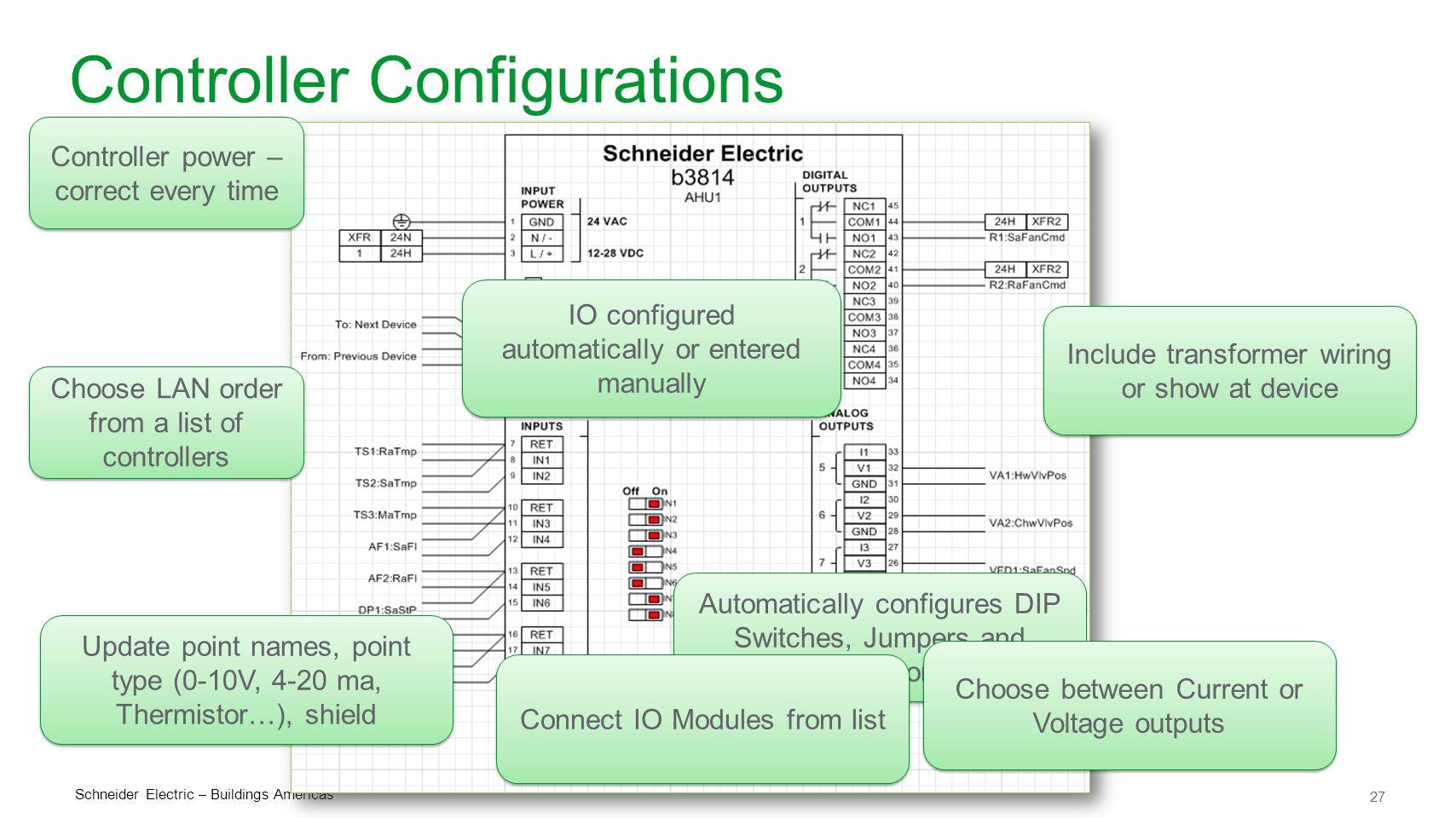 Controller Configurations