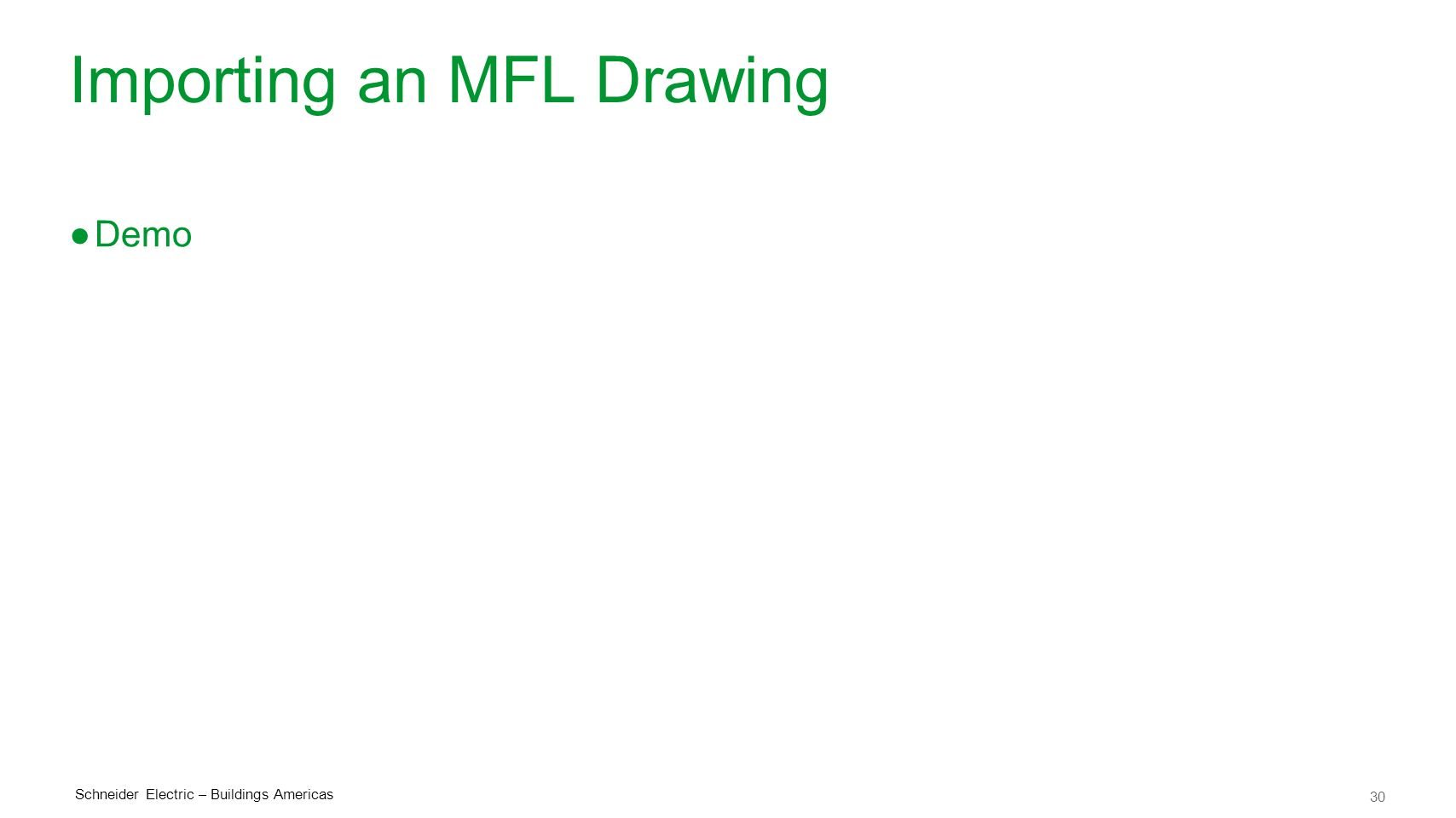 Importing an MFL Drawing