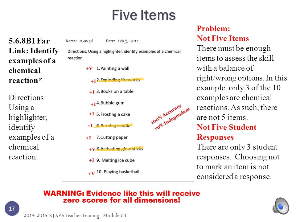 Five Items Problem: Not Five Items
