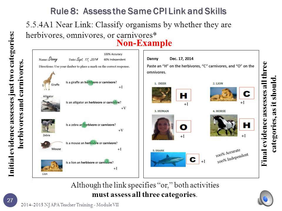 Rule 8: Assess the Same CPI Link and Skills