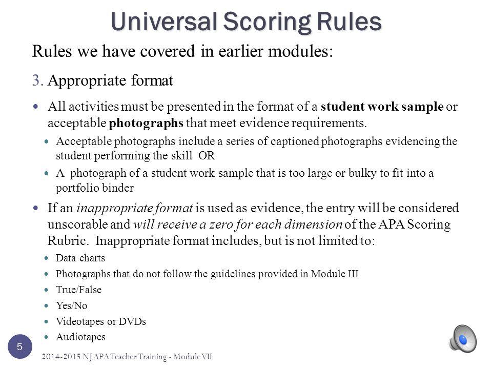 Universal Scoring Rules