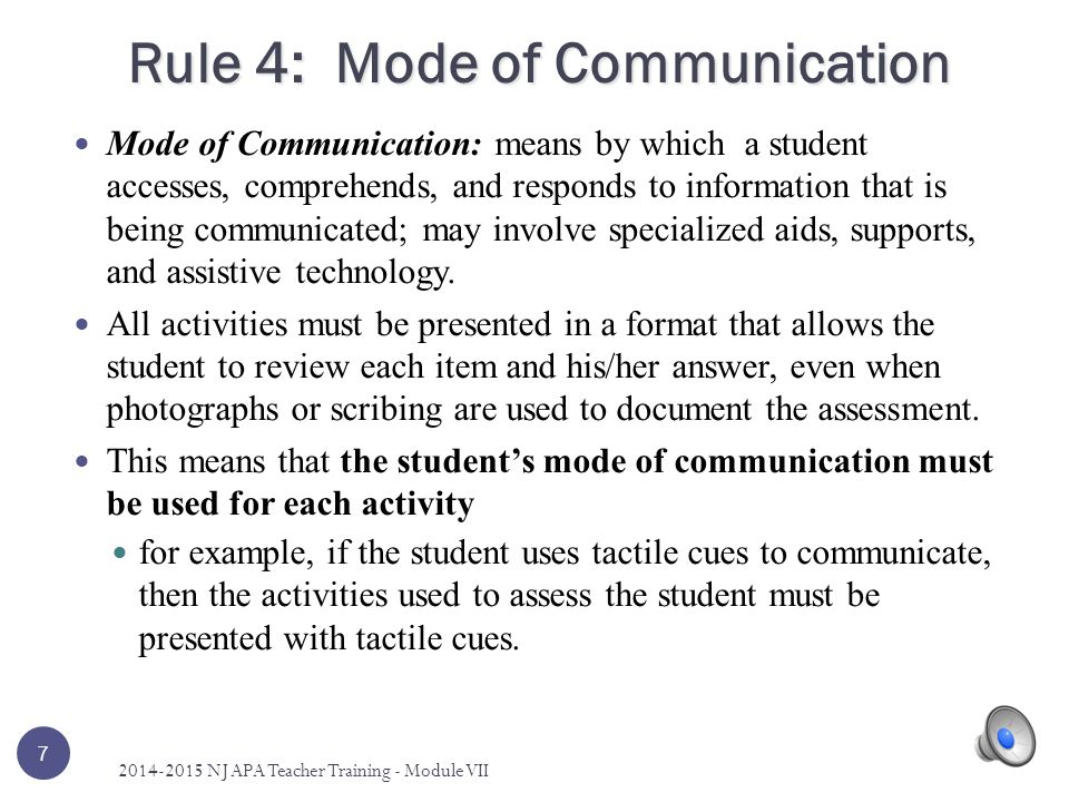 Rule 4: Mode of Communication
