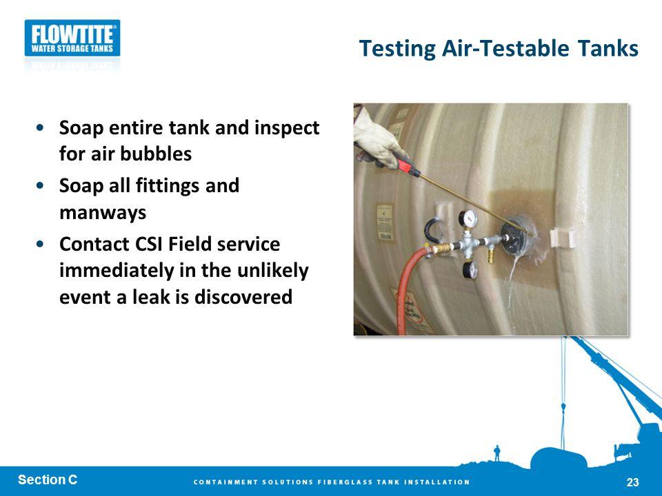Testing Air-Testable Tanks