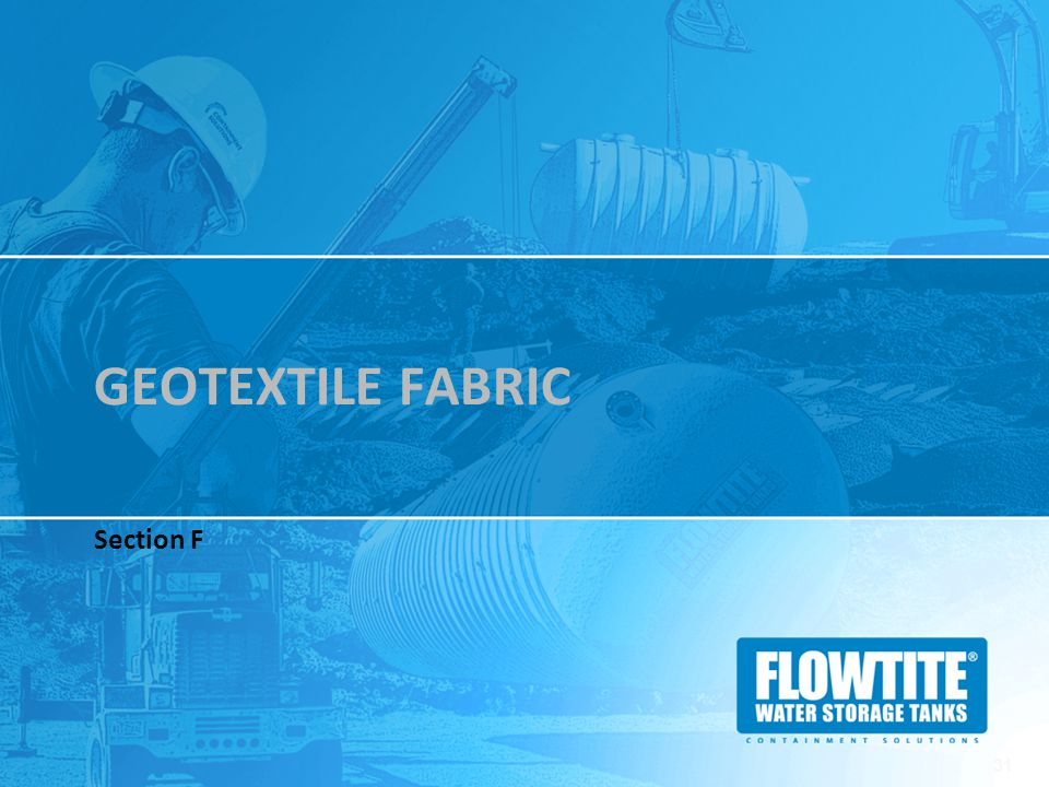 Geotextile Fabric Section F