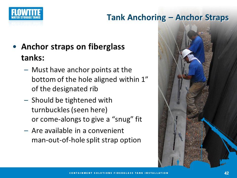 Tank Anchoring – Anchor Straps