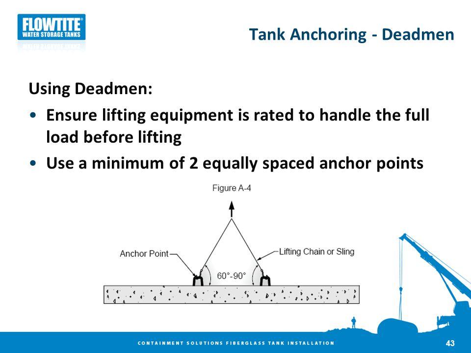 Tank Anchoring - Deadmen
