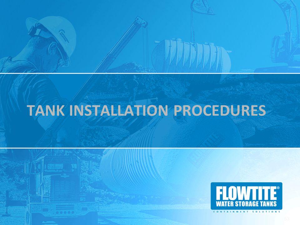 Tank Installation Procedures