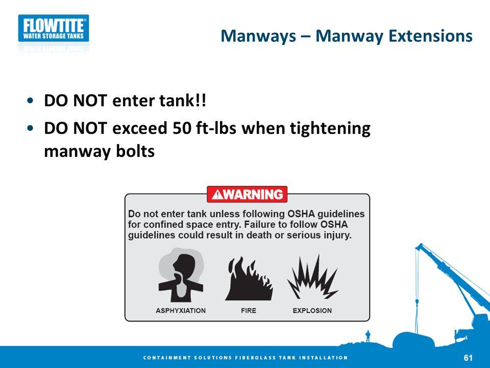 Manways – Manway Extensions