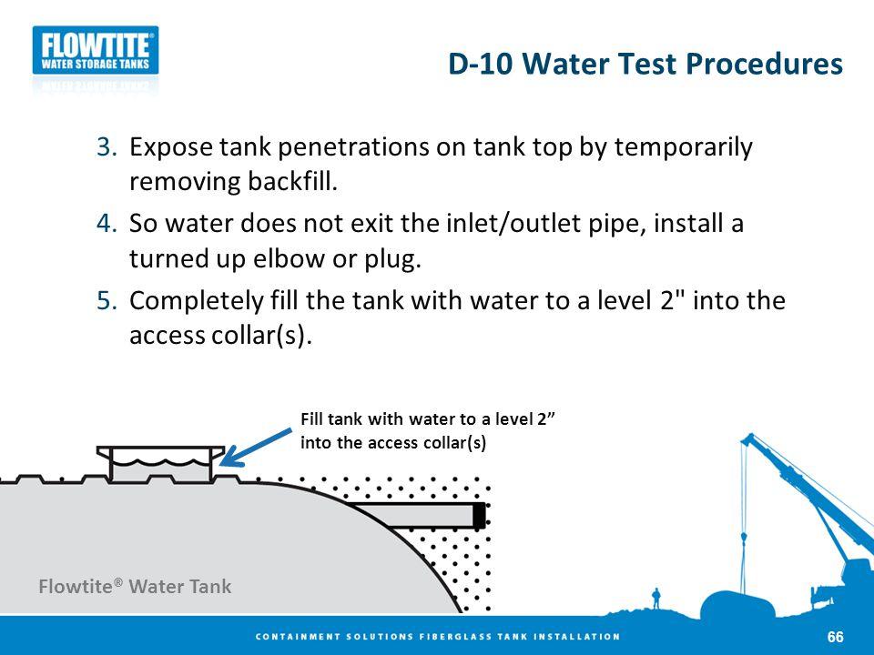 D-10 Water Test Procedures