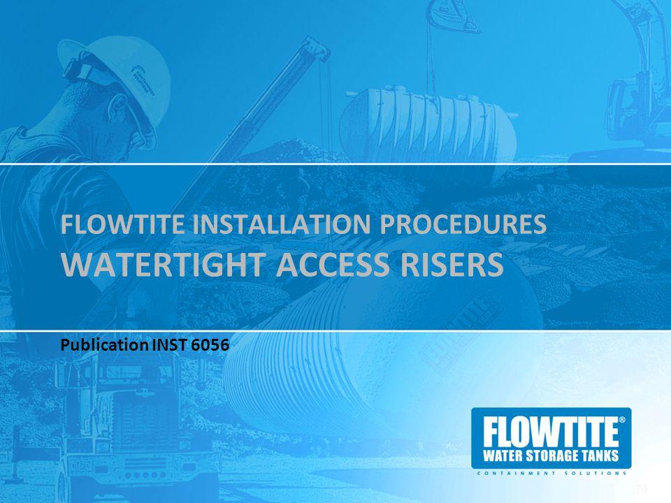 Flowtite Installation Procedures watertight access risers