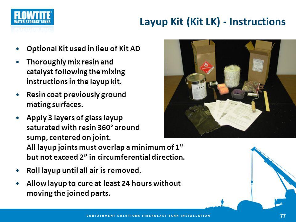 Layup Kit (Kit LK) - Instructions