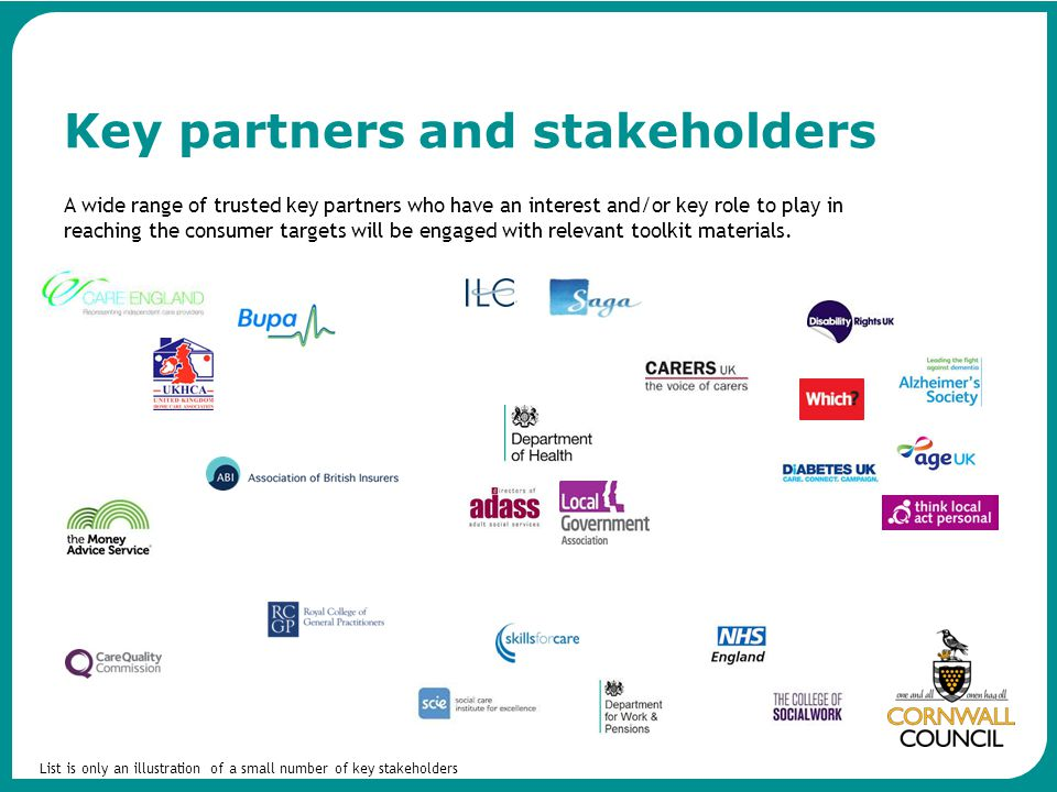 Key partners and stakeholders