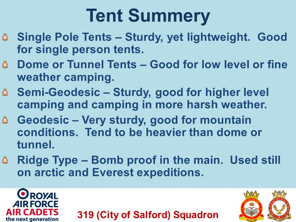Tent Summery Single Pole Tents – Sturdy, yet lightweight. Good for single person tents.