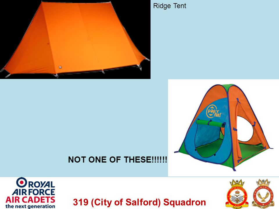 Ridge Tent NOT ONE OF THESE!!!!!!