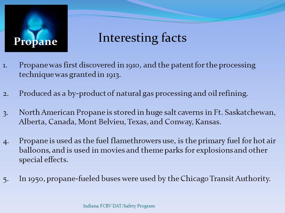 Interesting facts Propane