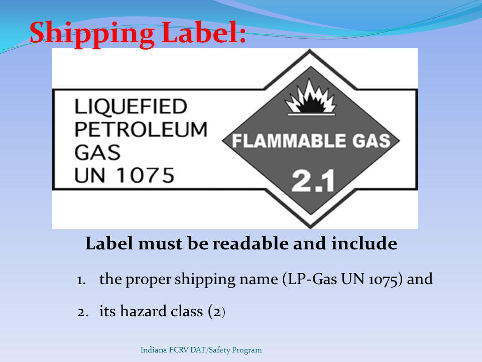 Label must be readable and include