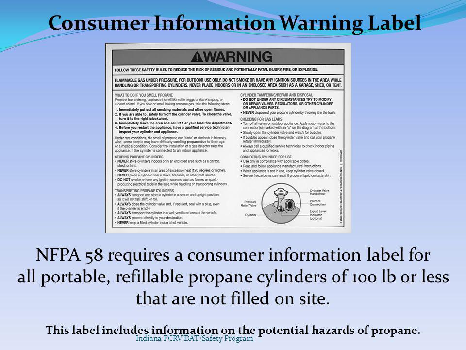 Consumer Information Warning Label