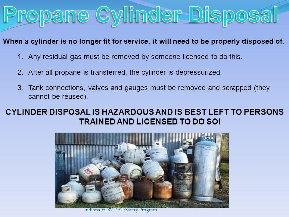 Propane Cylinder Disposal