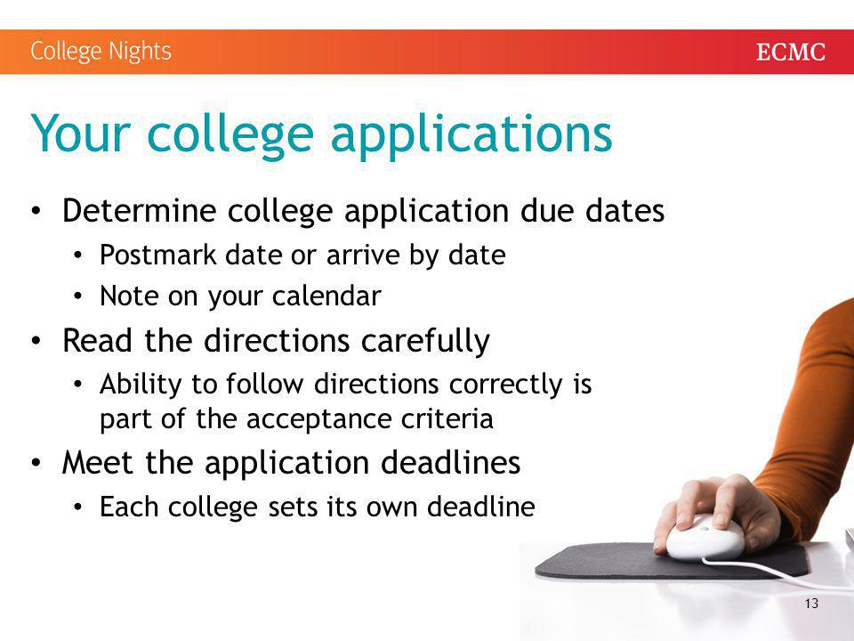 Your college applications