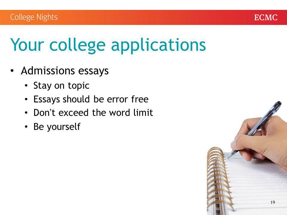 exceeding college essay word limit Do limit application word college essay not exceed the word limits on college essays 5 top tips on finding topics for college sorry.