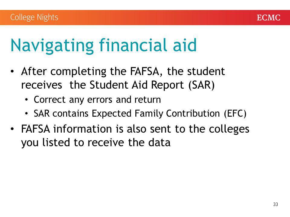 Navigating financial aid