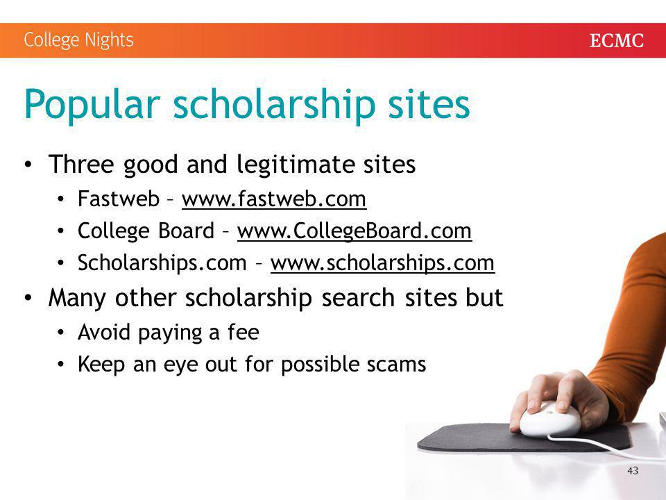 Popular scholarship sites