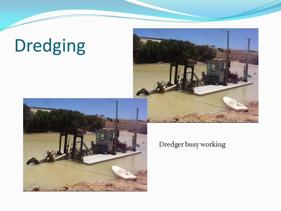 Dredging Dredger busy working