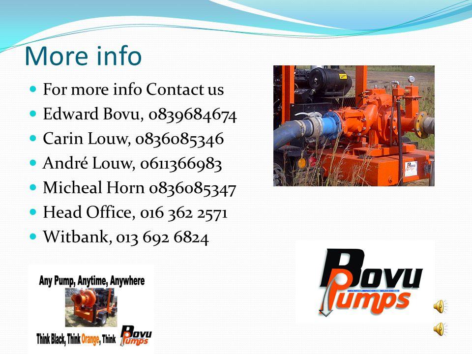 More info For more info Contact us Edward Bovu, 0839684674