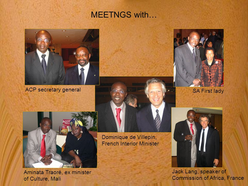 MEETNGS with… ACP secretary general SA First lady